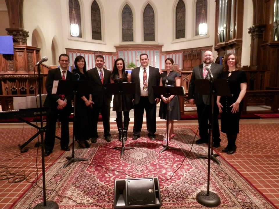 The Occasion Singers at Grace Church, New Bedford, MA, in 2014.